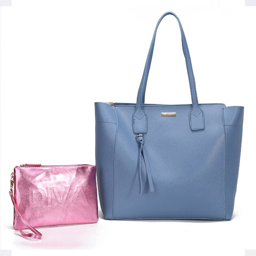 JT002-blue Tas Selempang Tote Fashion 2in1 Import