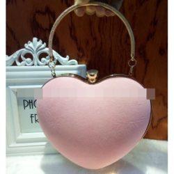 JT0022-pink Tas Pesta LOVE Elegan Import