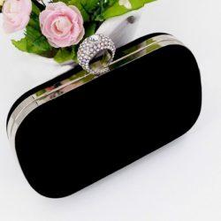 JT0025-black Tas Pesta Import Wanita Elegan