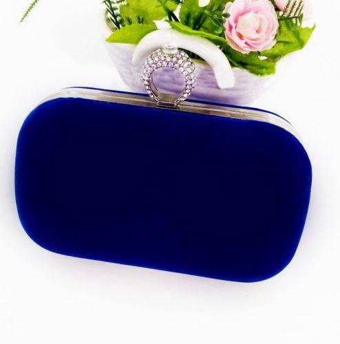 JT0025-blue Tas Pesta Import Wanita Elegan