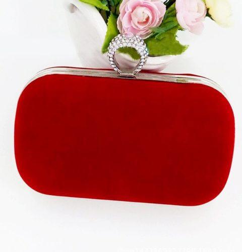 JT0025-red Tas Pesta Import Wanita Elegan