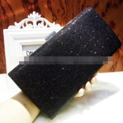 JT0035-black Clutch Bag Pesta Cantik Elegan Import