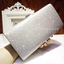 JT0035-silver Clutch Bag Pesta Cantik Elegan Import