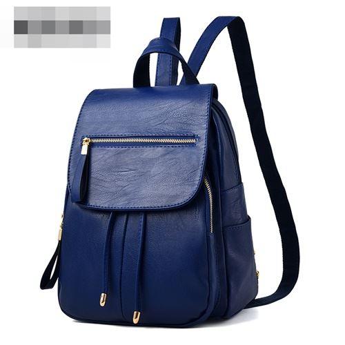 JT0061-blue Tas Ransel Wanita Kekinian Import