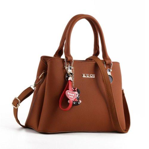 JT0066-brown Tas Selempang Wanita Cantik Elegan Import
