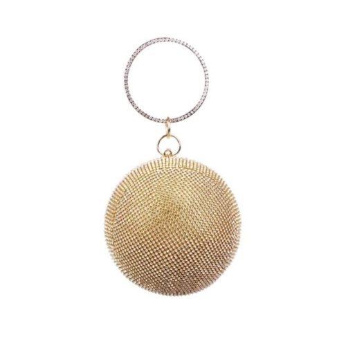 JT0091-gold Tas Pesta Elegan Mewah Terbaru (Dengan Kotak)