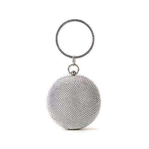 JT0091-silver Tas Pesta Elegan Mewah Terbaru (Dengan Kotak)