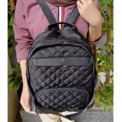 JT01069B-black Tas Ransel Stylish Wanita Canti Terbaru