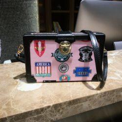 JT01102-pink Tas Selempang Kotak Kekinian Import