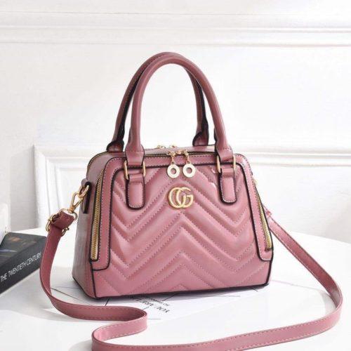 JT01111-darkpink Tas Handbag Wanita Elegan Terbaru Import