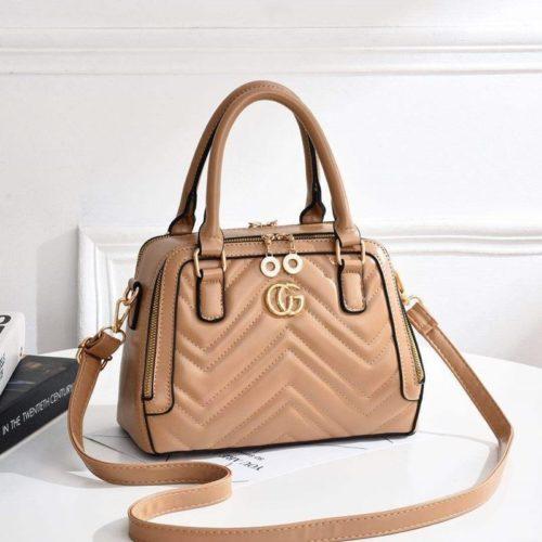JT01111-khaki Tas Handbag Wanita Elegan Terbaru Import