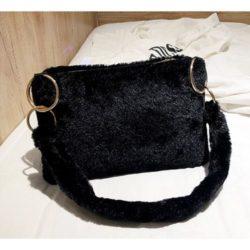 JT0123-black Tas Selempang Plushy Wanita Cantik Import