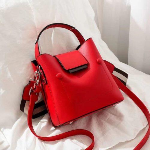 JT01419-red Tas Handbag Selempang Wanita Import 2 Talpan