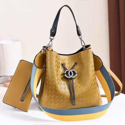 JT01692-green Tas Handbag Cantik 2 Talpan 2in1 Import