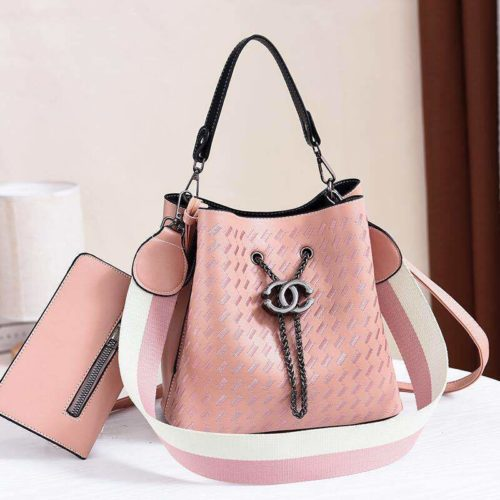 JT01692-pink Tas Handbag Cantik 2 Talpan 2in1 Import