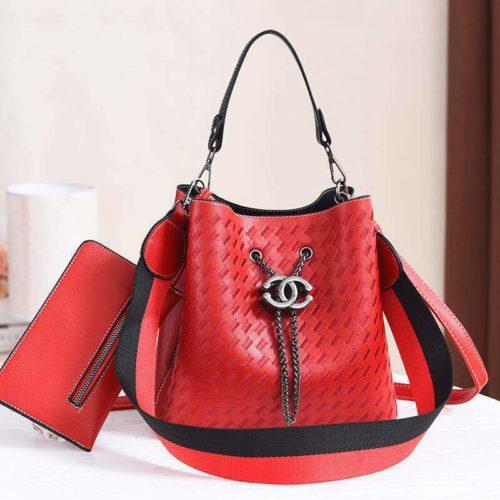 JT01692-red Tas Handbag Cantik 2 Talpan 2in1 Import