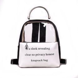JT0222-black Tas Ransel Transparan Knapsack Bag Kekinian Import