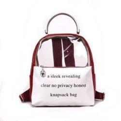 JT0222-red Tas Ransel Transparan Knapsack Bag Kekinian Import
