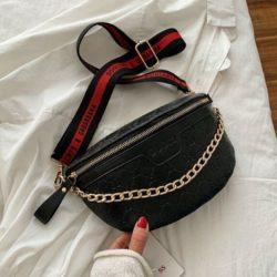 JT02334-black Sling Bag Import Wanita Elegan Cantik