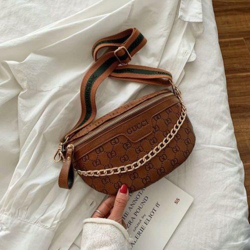 JT02334-brown Sling Bag Import Wanita Elegan Cantik