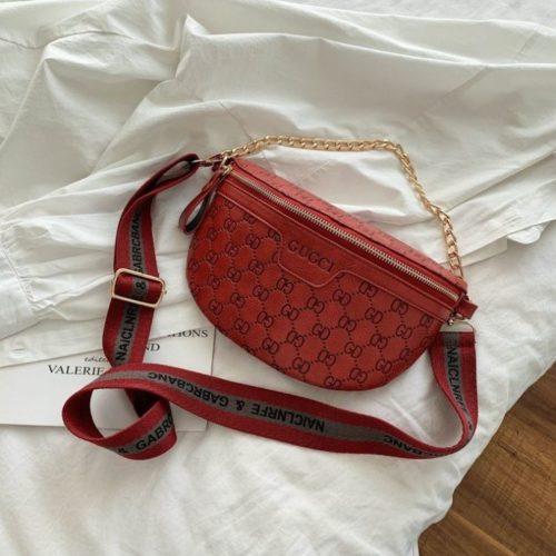 JT02334-red Sling Bag Import Wanita Elegan Cantik