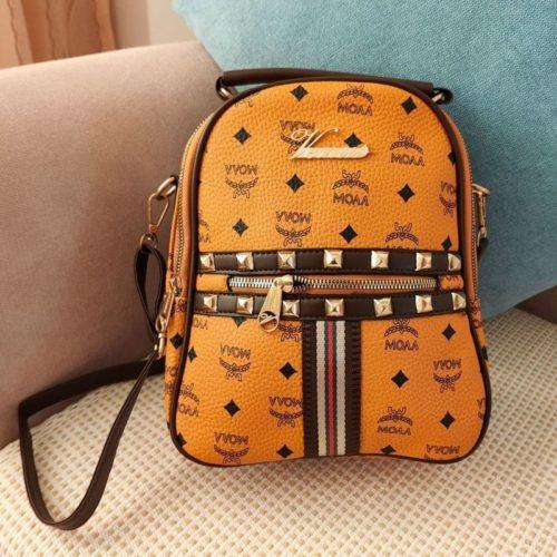 JT02348-brown Tas Ransel Wanita Fashion Import Terbaru
