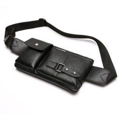 JT025-black Waistbag Cowok Keren Import
