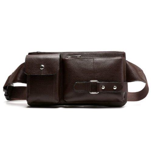 JT025-darkbrown Waistbag Cowok Keren Import
