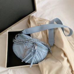 JT0263-blue Tas Pinggang Waist Bag Wanita Cantik Import