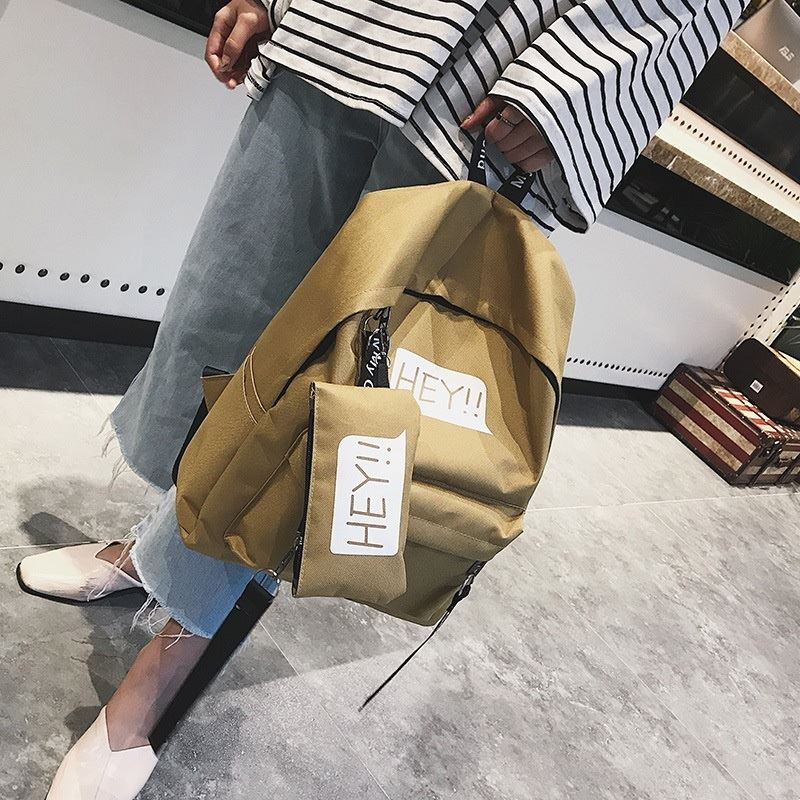 JT03135 IDR.122.000 MATERIAL CANVAS SIZE L28XH31XW15CM WEIGHT 600GR (2IN1) COLOR KHAKI