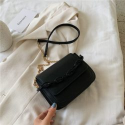 JT03246-black Tas Selempang Import Wanita Elegan Terbaru