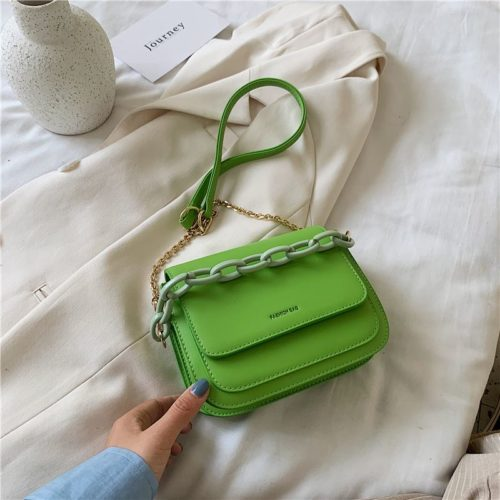 JT03246-green Tas Selempang Import Wanita Elegan Terbaru