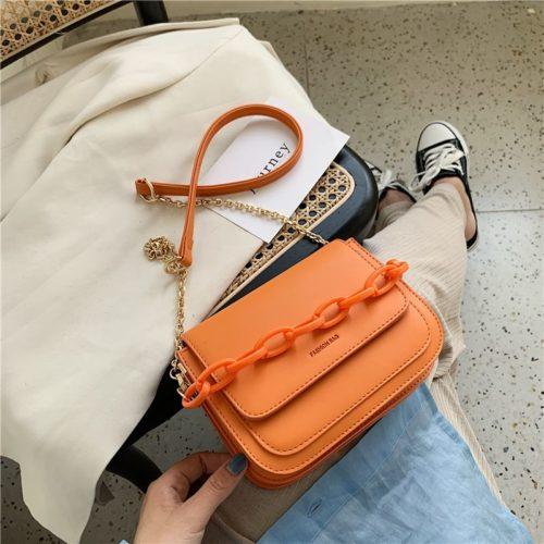 JT03246-orange Tas Selempang Import Wanita Elegan Terbaru