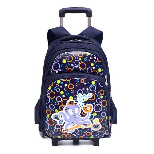 JT0332-blue Tas Sekolah Ransel Troli Anak Cantik Import Terbaru