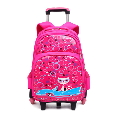 JT0332-pink Tas Sekolah Ransel Troli Anak Cantik Import Terbaru