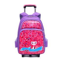 JT0332-purple Tas Sekolah Ransel Troli Anak Cantik Import Terbaru