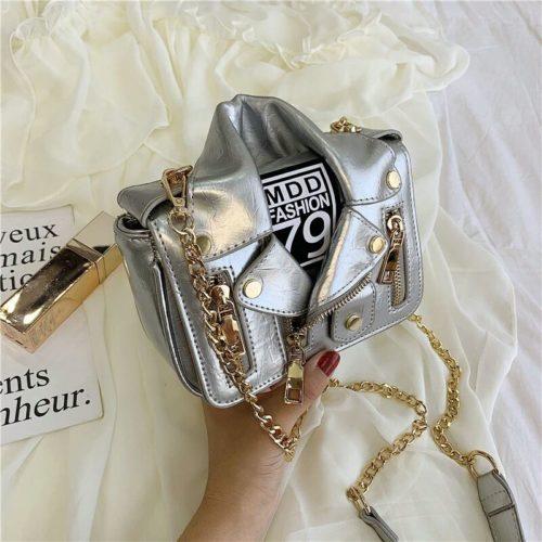 JT033508-silver Tas Selempang Wanita Stylish Kekininian Import