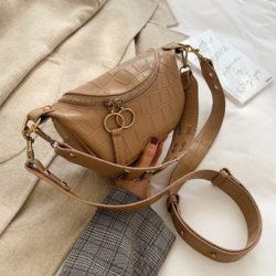JT03410-khaki Tas Waist Bag Selempang Wanita Cantik Import