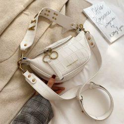 JT03410-white Tas Waist Bag Selempang Wanita Cantik Import
