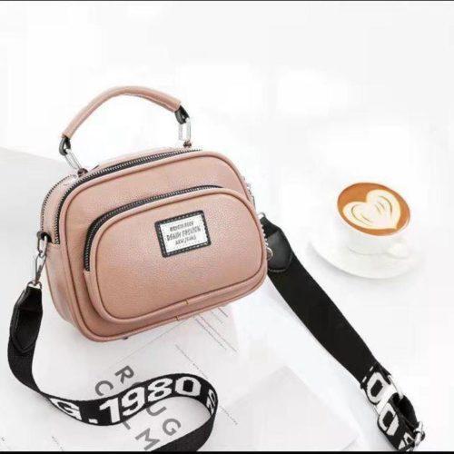 JT0400-pink Tas Selempang Wanita Kekinian Import