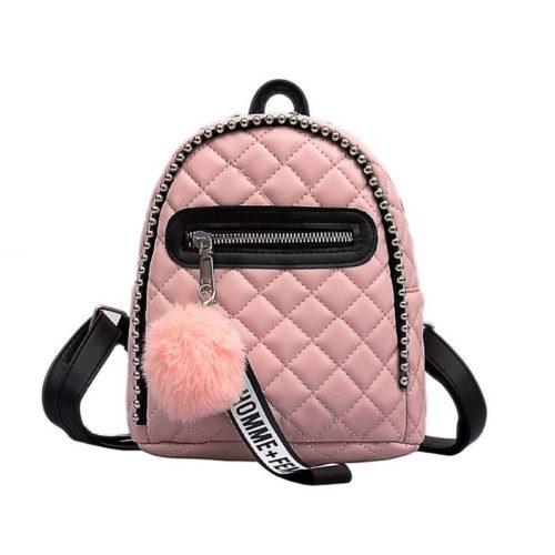 JT05243-pink Tas Mini Ransel Pom Pom Lucu Terbaru