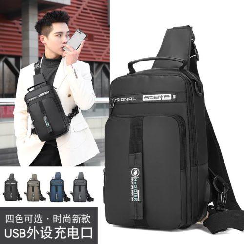 JT0585-black Tas Sling Bag NEW Normal Style (Bisa Jadi Ransel)
