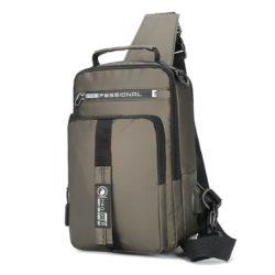JT0585-khaki Tas Sling Bag NEW Normal Style (Bisa Jadi Ransel)