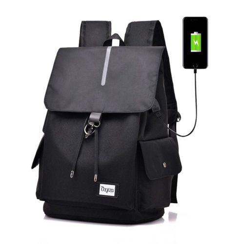 JT0604-black Tas Ransel Serbaguna Terbaru ( Colokan USB) Import