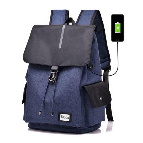 JT0604-blue Tas Ransel Serbaguna Terbaru ( Colokan USB) Import
