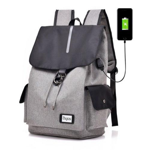 JT0604-gray Tas Ransel Serbaguna Terbaru ( Colokan USB) Import