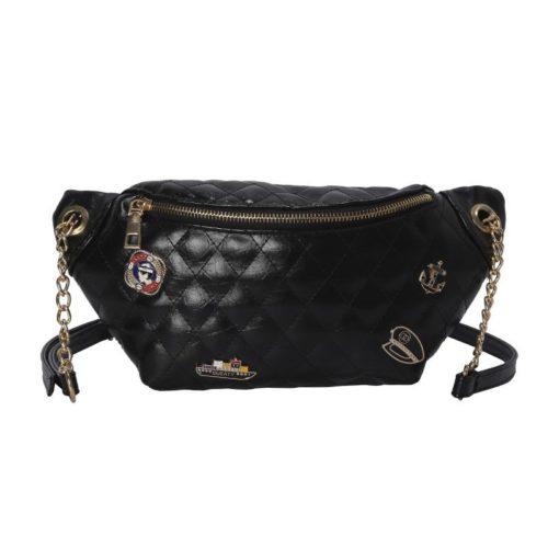 JT06144-black Waist Bag Fashion Wanita Terbaru Import