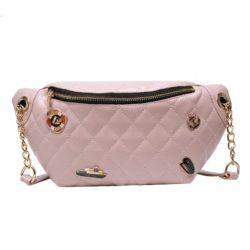 JT06144-pink Waist Bag Fashion Wanita Terbaru Import