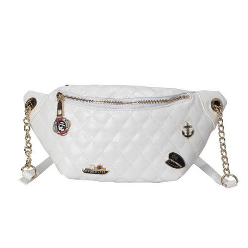 JT06144-white Waist Bag Fashion Wanita Terbaru Import