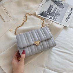 JT06247-gray Tas Clutch Selempang Import Wanita Cantik